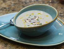 Leek, potato, mushroom soup. (DEREK RUTTAN, The London Free Press)