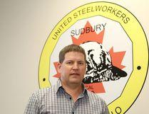 Myles Sullivan, area co-ordinator of United Steelworkers, on Wednesday. (John Lappa/Sudbury Star)