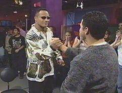 "Bill Welychka with Dwayne ""The Rock"" Johnson. (Supplied photo)"
