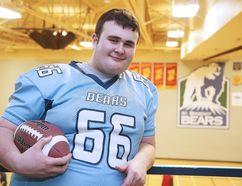St. Benedict Bears football player Austin Hill in Sudbury, Ont. on Wednesday December 14, 2016. Hill has made team Ontario.Gino Donato/Sudbury Star/Postmedia Network