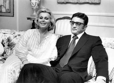 Zsa Zsa Gabor with seventh her husband Michael O'Hara in Zsa Zsa Gabor in a Jan. 1, 1976 file photo.  (WENN.com Photo)