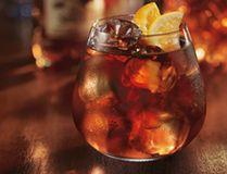 Captain Morgan spiced rum punch.