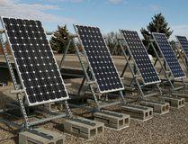 "Solar panels on the roof of Queen Elizabeth High School in Edmonton. The school has been named the ""Greenest School in Canada."" LARRY WONG Postmedia Network"