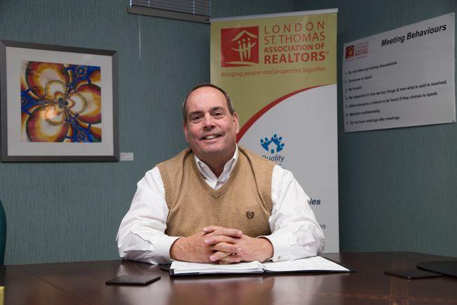 Jim Smith is the president of the London St. Thomas Association of Realtors. (DEREK RUTTAN, The London Free Press)
