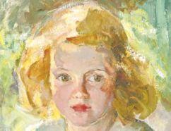 Miss Nancy Drawsbridge, an oil on canvas by Eva Bradshaw, is part of London Collects.
