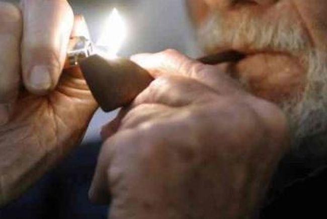 Senior smoking pot. (Postmedia Network files)