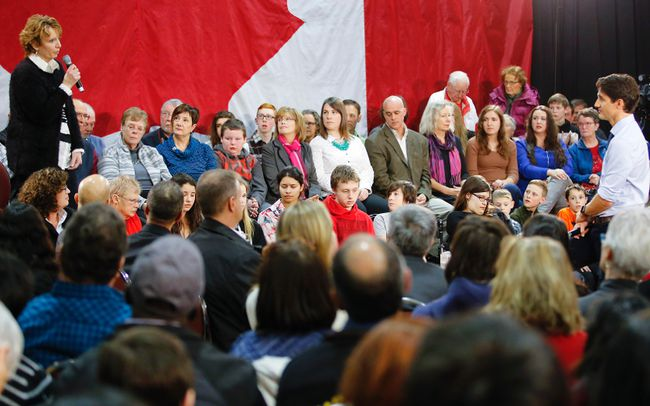 Trudeau listening