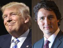 Donald Trump and Justin Trudeau.