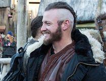 "Toronto Blue Jays third baseman Josh Donaldson (right) is shown on the set of the television show ""Vikings."" THE CANADIAN PRESS/HO-Corus Entertainment"