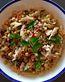 Souvlaki Chicken, Chick Pea & Artichoke Heart Salad
