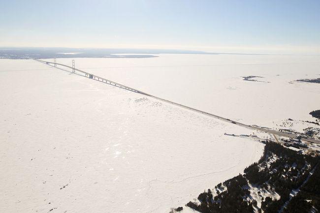 Aerial view of Straits of Mackinac (AP file photo)