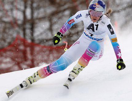 Lindsey Vonn competes during a World Cup downhill race in Altenmarkt-Zauchensee, Austria, on Sunday, Jan. 15, 2017. (Marco Trovati/AP Photo)