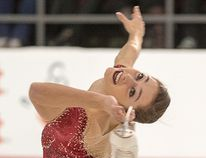 Kaetlyn Osmond puts on a show during the free program at the Canadian Tire national skating championships in Ottawa last night. (Wayne Cuddington/Postmedia Network)