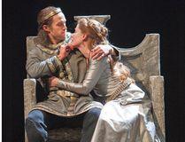 Ian Lake as Macbeth and Krystin Pellerin as Lady Macbeth in the Stratford Festival's 2016 production of Macbeth. (Photography by David Hou)