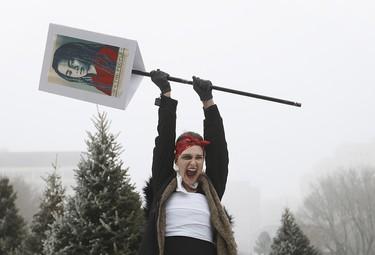 Edmonton 'sister march' protest held against U.S. President _9
