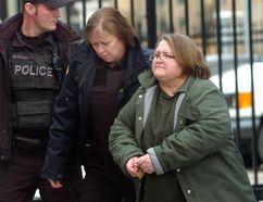 Elizabeth Wettlaufer, the Woodstock nurse accused of killing residents in several southwestern Ontario nursing homes, arrives at court in Woodstock. (Free Press file photo)