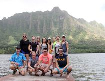 The Wallaceburg Tartans swim team visited Kualoa Ranch near Honolulu on their visit to Hawaii. (Contributed Photo)