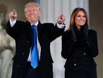 Trump points