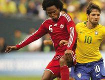 Canada's Julian de Guzman during a friendly against Brazil in Seattle, Washington.