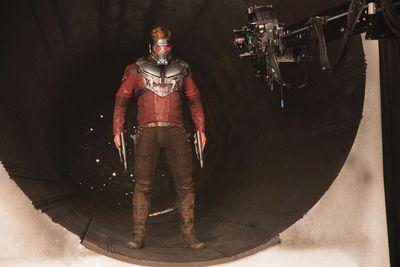 Chris Pratt's Star-Lord on the set of Marvel's Guardians Of The Galaxy Vol. 2 (Marvel Studios)