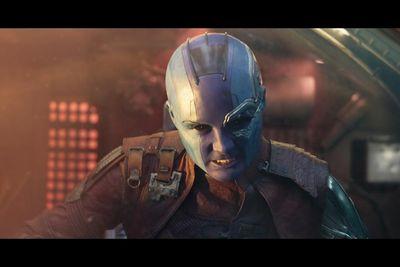 Karen Gillan returns as villainous alien-cyborg Nebula in Guardians of the Galaxy Vol. 2. (Marvel Studios)