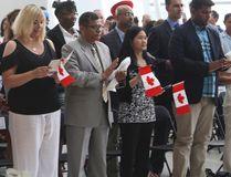 Pearson International Airport Citizenship Ceremony. (Jack Boland/Toronto Sun)