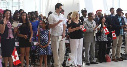 Pearson International Airport Citizenship Ceremoney. (Jack Boland/Toronto Sun)