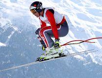 Canada's Erik Guay competes during a men's downhill race, at the alpine ski World Championships in St. Moritz, Switzerland, Sunday, Feb. 12, 2017. (AP Photo/Alessandro Trovati)