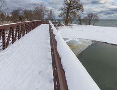 A bridge over Duffins Creek near Rotary Park on the shore of Lake Ontario in Ajax on Monday ,February 13, 2017. Ernest Doroszuk/Toronto Sun/Postmedia Network