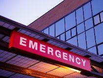 An emergency department sign ER hospital