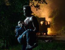 Hugh Jackman as Logan/Wolverine and Dafne Keen as Laura in LOGAN. Photo Credit: Ben Rothstein.