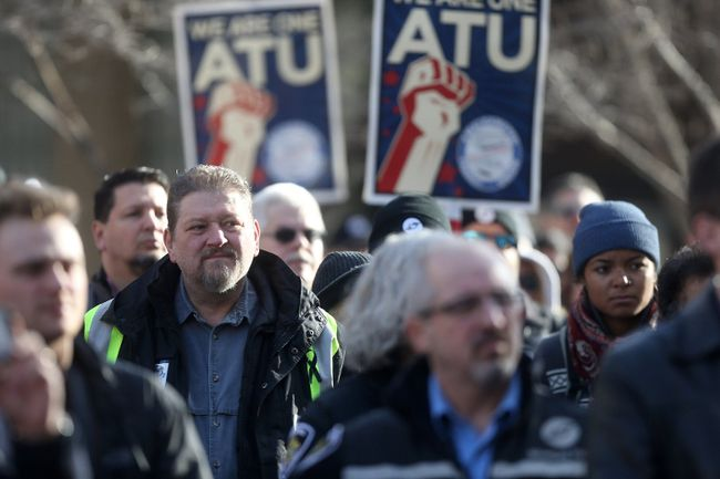 Transit drivers rally