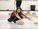 University of Alberta-Augustana women's skip Nikki Smith practices in Camrose on Feb. 9. Josh Aldrich/ Camrose Canadian