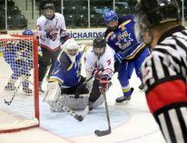 Caps forward Joey Moffatt was named the Manitoba Midget AAA Hockey League's MVP. (Brian Oliver/The Graphic)