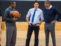 Justin Trudeau, Dwane Casey, Masai Ujiri