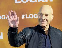 """Patrick Stewart attending a photocall for 'Logan' at the Vilamagna hotel in Madrid, Spain on Feb. 20, 2017. (Oscar Gonzalez/<A HREF=""""http://www.wenn.com"""" TARGET=""""newwindow"""">WENN.COM</a>)"""