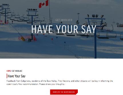Should Calgary Bid olympics website