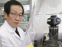 Rui Wang in his lab at Laurentian University. (Gino Donato/Sudbury Star)