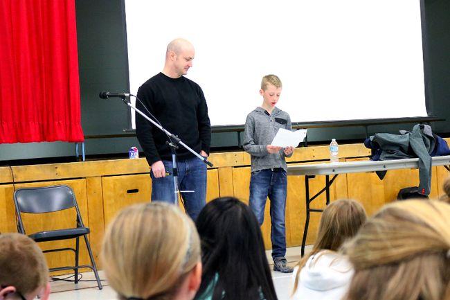 Andrew Smith at Holy Rosary Catholic School