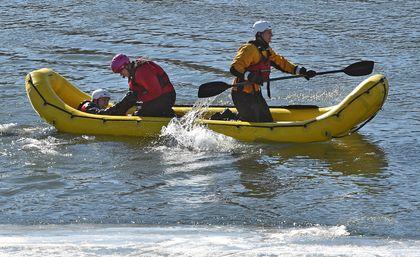 North Saskatchewan River water rescue training