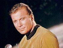 William Shatner as Captain Kirk in the original Star Trek series from 1966 to 1969