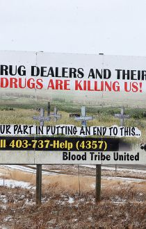 Blood Trive signage