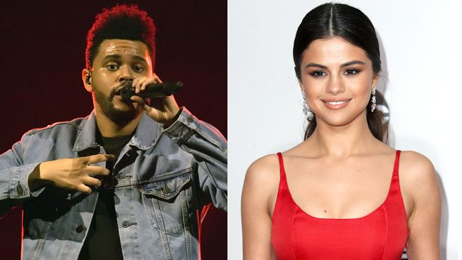 "The Weeknd and Selena Gomez. (Kaminski/<A HREF=""http://www.wenn.com"" TARGET=""newwindow"">WENN.COM</a> and Frederick M. Brown/Getty Images photos)"