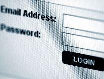 email login screen username password