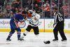 Edmonton Oilers forward Patrick Maroon fights the L.A Kings' Jarome Iginla at Rogers Place in Edmonton on Monday, March 20, 2017. (Ian Kucerak)