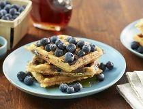 Blueberry bacon waffles