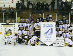 The Athabasca Hawks, 2017 Alberta Provincial Atom B Champions.