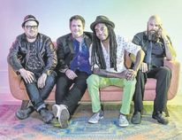 The Julian Taylor Band is comprised of Jeremy Elliot (drums), left, David Engle (keys), Julian Taylor (vocals and guitar), Steve Pelletier (bass). (Special to Postmedia News)