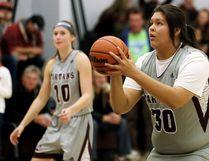 Wallaceburg Tartans basketball player Keahna Riley. (MARK MALONE/The Daily News)