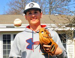 Delhi's Evyn Sherman, 19, will join the Macomb Community College Monarchs baseball program this fall. JACOB ROBINSON/Simcoe Reformer
